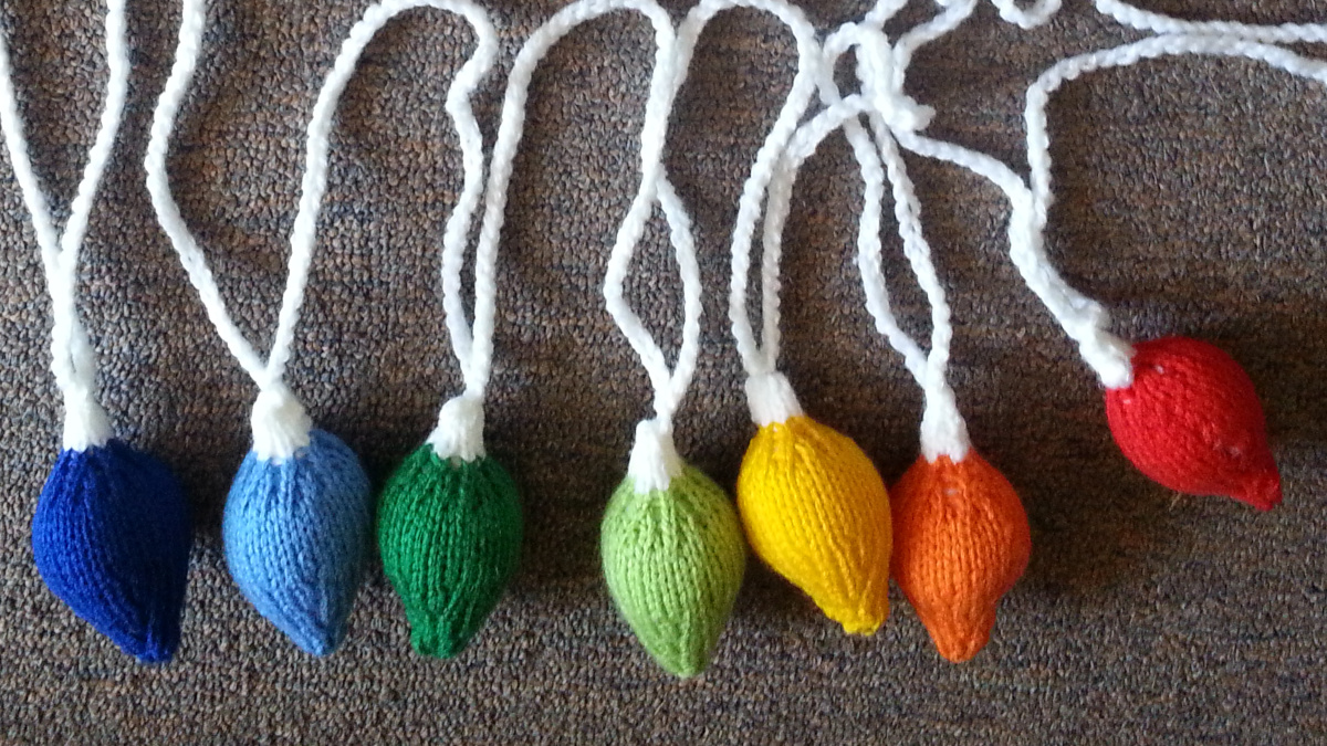 Knitted party lights
